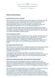 Datenschutzerklärung - Atelier für Werbung