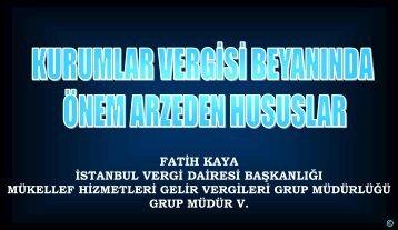 hesaplanan kurumlar vergisi - İstanbul SMMM Odası