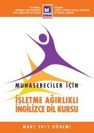 işletme ağırlıklı ingilizce dil kursu - İstanbul SMMM Odası