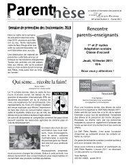 Février 2011 - Commission scolaire Marie-Victorin
