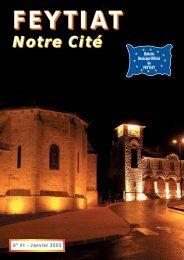 Bulletin municipal n°41 - Janvier 2003 - Feytiat