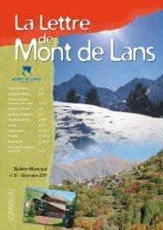 Bulletin Municipal - Mairie de Mont de Lans