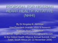 Akinroye - Nigerian Heart Health Initiative - Oxford Health Alliance