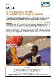 dans la région du Kanem. - Action Contre La Faim