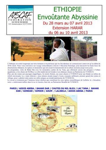 ETHIOPIE Envoûtante Abyssinie - Atscaf