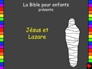Jésus et Lazare - Bible for Children