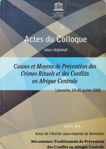 Actes du Colloque sous régional Causes et ... - unesdoc - Unesco