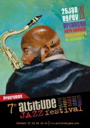 programme complet en PDF - Altitude Jazz Festival