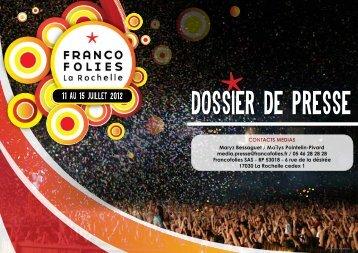 dimanche 15 juillet - Les Francofolies de La Rochelle
