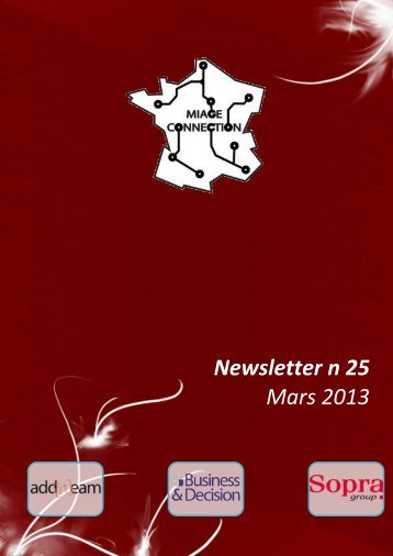 Newsletter n°25 - Mars 2013 - MIAGE Connection