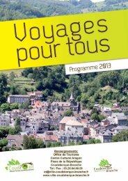 Programme Tourisme Pour Tous 2013 - Coudekerque-Branche