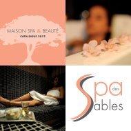 Catalogue - Spa des Sables