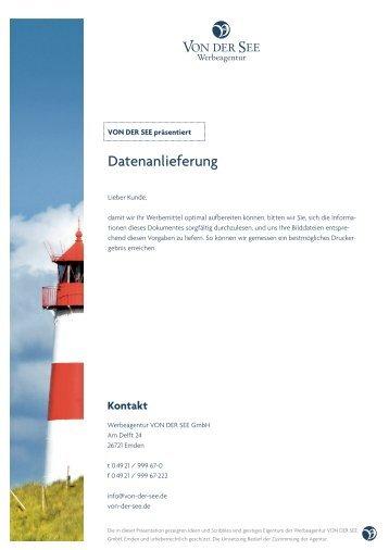 Infos zur Datenanlieferung - Von der See