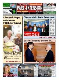 Elizabeth Papp celebrates 105th birthday! Justin Trudeau sworn in...