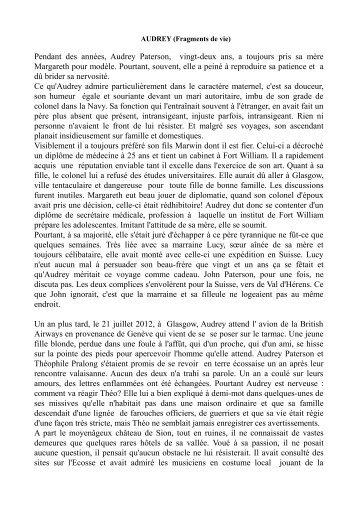 AUDREY - Martine S. - Escale du Nord