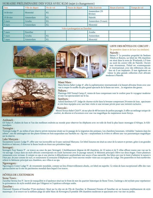 KENYA, TANZANIE ET NAIROBI - Agence voyage Louise Drouin