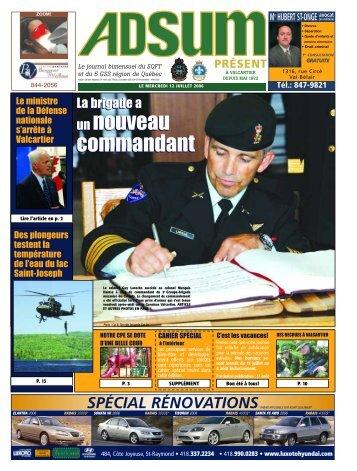 un nouveau commandant un nouveau commandant - Journal Adsum