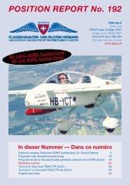 POSITION REPORT No. 192 - AOPA Switzerland