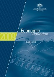 Economic Roundup Issue 4, 2009 - Australian Government, The ...