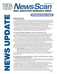 nida addiction research news - ARCHIVES - National Institute on ...