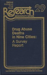 Drug Abuse Deaths in Nine Cities: A Survey Report, 29