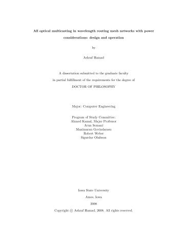optical multicasting in wavelength routing mesh networks with power ...