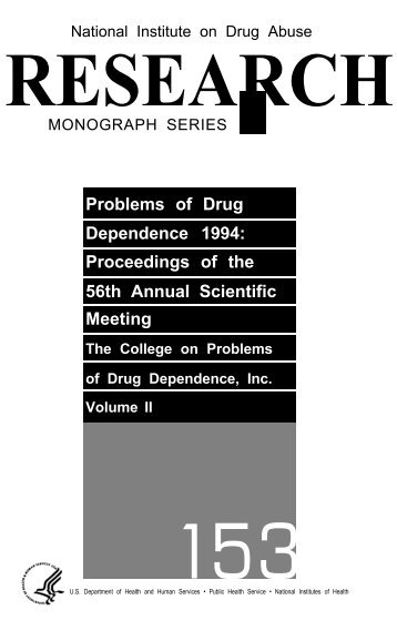 Problems of Drug Dependence 1994 - Archives - National Institute ...