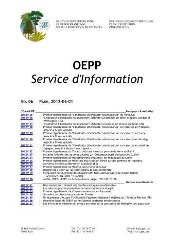 EPPO Reporting Service - Lists of EPPO Standards - European and ...