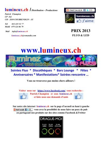 Catalogue Fluo - Led - Lumineux.ch