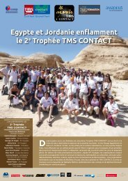 Egypte et Jordanie enflamment le 2e Trophée TMS ConTaCT