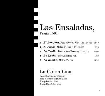 Las Ensaladas, - CD Baroque - K617