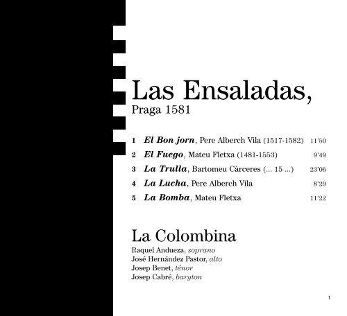 Las Ensaladas Cd Baroque K617