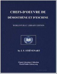 chefs-d'oeuvre de démosthène et d'eschine - World eBook Library