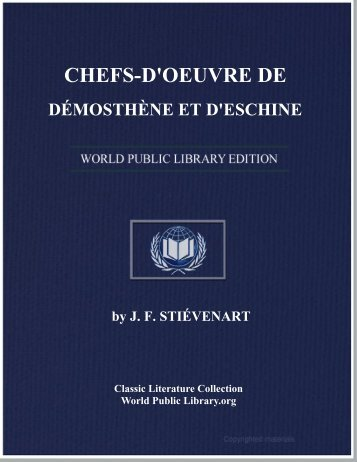 chefs-d'oeuvre de démosthène et d'eschine - World eBook Library