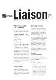 Liaison du 15 octobre 2008 - Université de Limoges