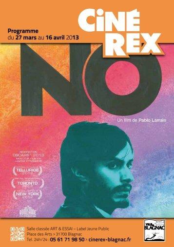 du 27 mars au 16 avril 2013 Programme - Cinéma Rex