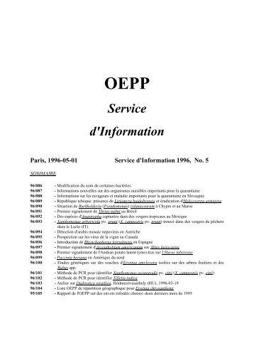 OEPP Service d'Information - Lists of EPPO Standards