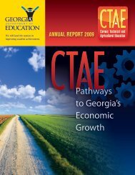 CTAE Annual Report (2009) - GADOE Georgia Department of ...