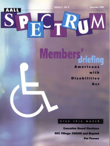 V.3 N.4 (December 1998) issue in - AALL