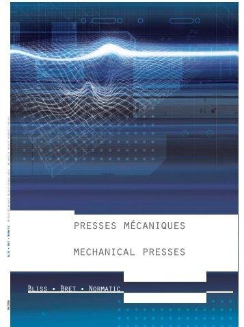 presses mécaniques mechanical presses - Presses Bliss Bret
