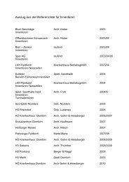 Auszug aus der Referenzliste für Innentüren