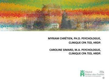 La thérapie cognitivo-comportementale (TCC) - Institut universitaire ...