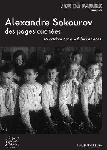 Alexandre Sokourov - Jeu de Paume
