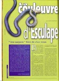 La couleuvre d'Esculape (Michel Hortigue) - Vents du Morvan
