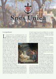 Spes Unica n° 8 de l'automne 2012 - La Porte Latine
