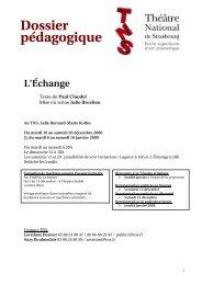 Dossier pédagogique - Société Paul Claudel