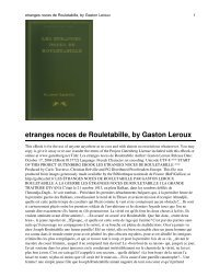 etranges noces de Rouletabille, by Gaston Leroux