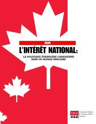 In the National Interest - French