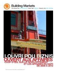 Building Markets - Rapport impact Haiti - FINAL - Peace Dividend Trust