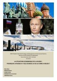 La situation économique de la Russie - Base de connaissance AEGE